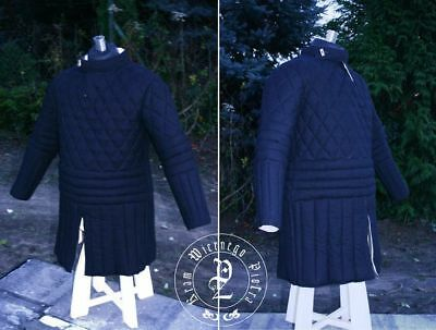 Beautiful Made of Cotton Full Blue Gambeson Medieval Padded Play Movie Armor