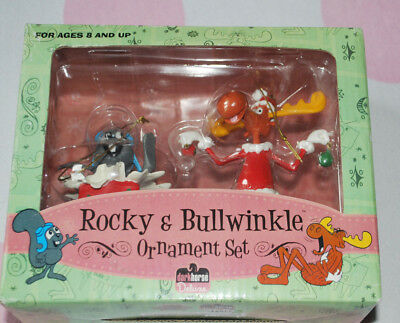 NIB Rocky and Bullwinkle  ornament set by Dark Horse Deluxe