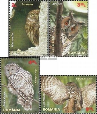 Romania 6721-6724 (complete.issue.) unmounted mint / never hinged 2013 Owls