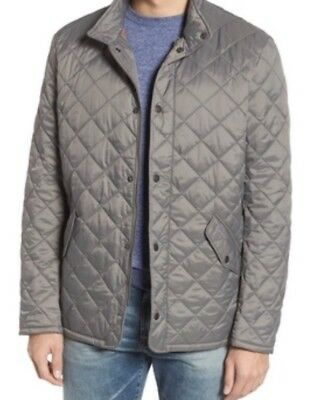 NWT Mens Barbour Flyweight Chelsea Quilted Jacket Gray Size Large