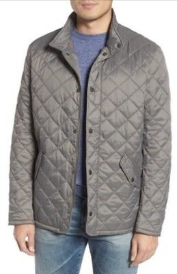 NWT Mens Barbour Flyweight Chelsea Quilted Jacket Gray Size Medium
