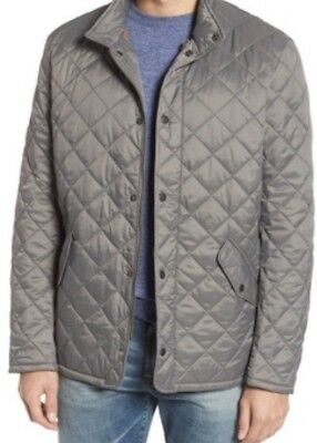 NWT Mens Barbour Flyweight Chelsea Quilted Jacket Gray Size Small