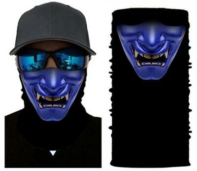 Men Clown Face Pattern Neck Tube Seamless Bandana Mask Wind Protector
