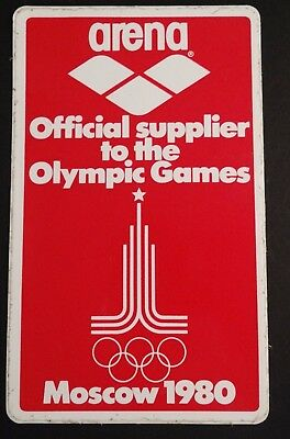 Aufkleber arena Olympic Games Moscow 1980 swimming Olympia Moskau Sticker