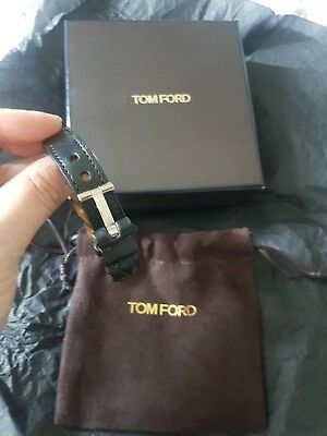 tom ford leather bracelet Brown,has T clasp in silver,  perfect for man or woman