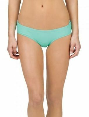 1539ab100761 Volcom Simply Solid Cheeky Bikini Bottom Women's size L Sea Glass #6956