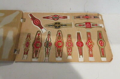 Collection Of 75 Vintage Cigar Bands