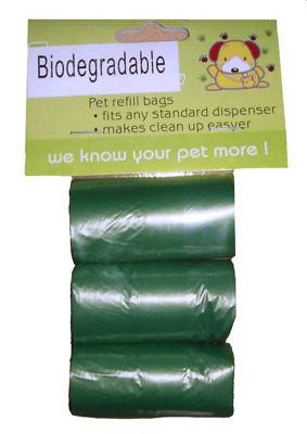 Dog Poo Bags Waste Mess Scented Bio Degradable Refills Roll Kit Doggy Pet Toilet