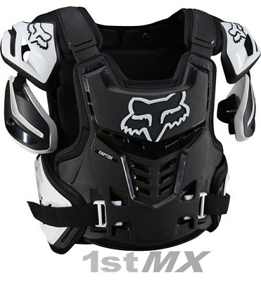 Fox Raptor Proframe Motocross Race Body Armour Black White Adult Small Medium