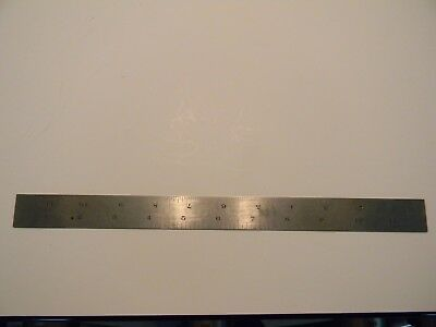 "12"" LUFKIN RULE TEMPERED STANLESS  Graduations IN 32NDS, 64THS, 16THS & 8THS"