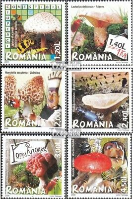 Romania 6262-6267 (complete.issue.) unmounted mint / never hinged 2008 Mushrooms