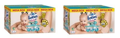 2 x Mega Box 96 couches Lotus Baby touch Zoo Taille 3 de 4 à 9 kg = 192 Couches