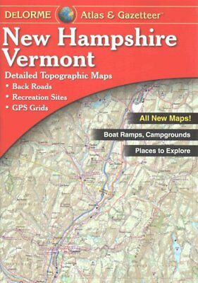 Delorme New Hampshire Vermont Atlas & Gazetteer by Rand McNally 9780899334417