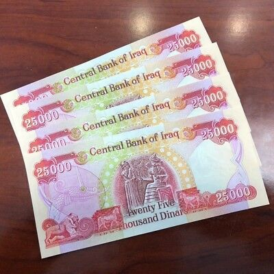 100,000 Iraqi Dinar (4) 25,000 Notes@ Uncirculated!! Authentic! Iqd