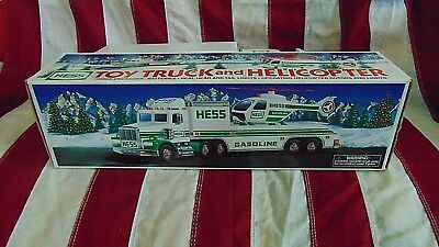 Hess Toy Truck & Helicopter 1995