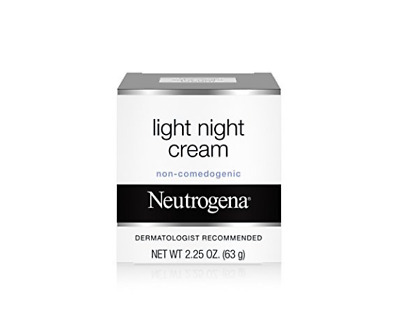 Neutrogena Facial Light Night Cream 2.25 Oz. Dermatologist Recommended New
