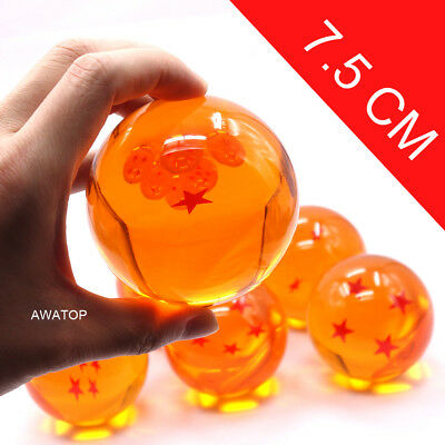 7.5cm/2.9'' 7pcs JP Anime Dragon Ball DragonBall Z Stars Small Crystal Ball Set