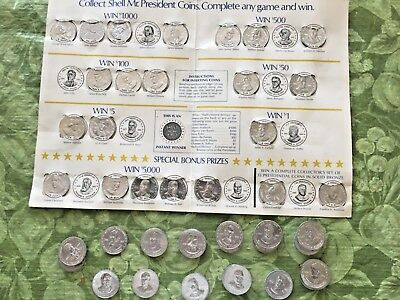 Shell Mr. President & Famous Facts and Faces Coin Game w/ extra coins