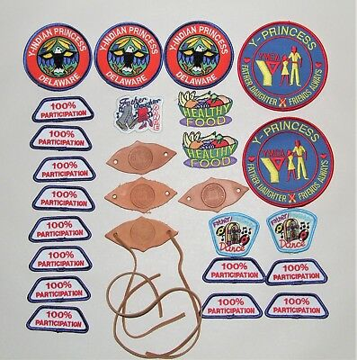 Lot of 26 YMCA Badges - Indian Princess, Father/Daughter, Leather Indian Guide +
