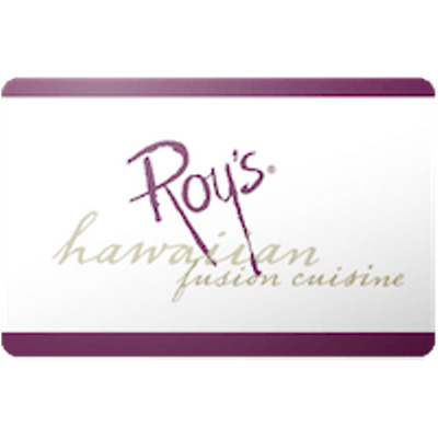 Roys Hawaiian Fusion Gift Card $50 Value, Only $45.00! Free Shipping!