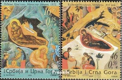 Yugoslavia 3308-3309 (complete.issue.) unmounted mint / never hinged 2005 christ