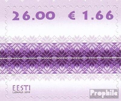 Estonia 671 (complete.issue.) unmounted mint / never hinged 2010 Strickmuster