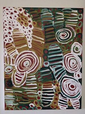 Minnie Pwerle Classic 85cm x 64cm Stretched 2005 MAKE AN OFFER POSTED FOC