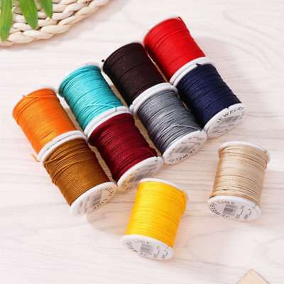 10 Rolls 0.8mm Waxed Cord Beading Thread Cord for DIY Jewellery Making Craft 10m