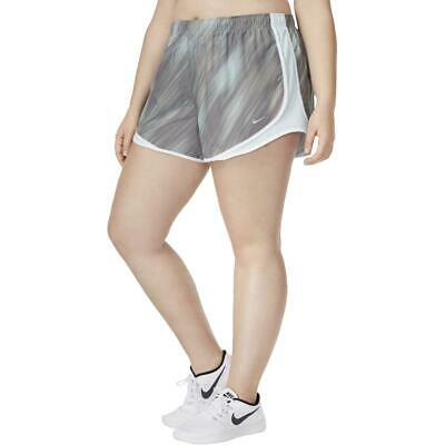 Nike Womens Plus Size Workout Dri-Fit Tempo Track Athletic Running Shorts BHFO