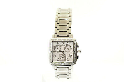 Women's Bulova 96R000 Stainless Steel Diamond Accented Chronograph Dial Watch