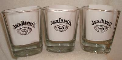 Set Of 3 Jack Daniel's Old No. 7 Whiskey Cocktail Glasses Barware Rocks Hi Ball