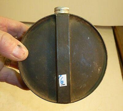 """#6 Miners Belt Canteen To Carry Water Or Fuel Galvanized Steel Excellent 4 1/4"""""""