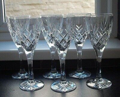 6 cut glass crystal wine glasses 200 cl