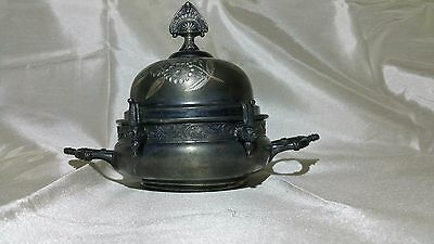 New Haven Silver Plate Company #4 Piece Triple Plate Serving/butter Dish