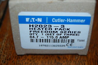 Cutler Hammer H2023-3 Heater Pack of 3 Freedom Series 84.7-115 Amp