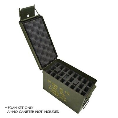 BEST! 24 MAGAZINE Military Foam Insert for .50 Cal Ammo Can Carry Case Pistol