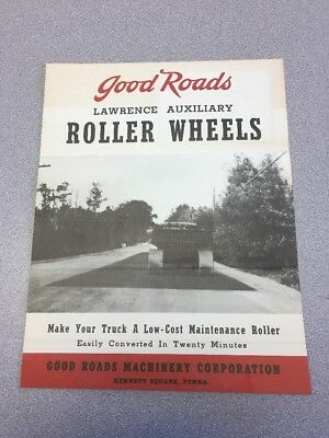 Good Roads Machinery Corp Kennett Square PA Brochure Lawrence Auxiliary Roller