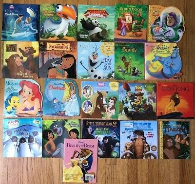 Lot 21 Kids Picture Books All Disney & Pixar Ariel Toy Story Beauty & Beast Po