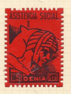 Spanish Civil War 1930s Early Issue Fine Mint Hinged 5c. 253996