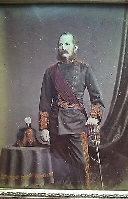 A Good Early Large Photograph Of A Named Victorian Officer