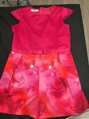 Girls Brand New Ted Baker Playsuit age 12 Hot Pink