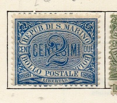 San Marino 1892 Early Issue Fine Mint Hinged 2c. 253952
