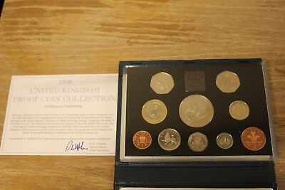 1998 United Kingdom Proof Coin Collection with COA