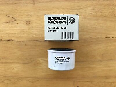 Evinrude and Johnson OEM Oil Filter, Part # 778885