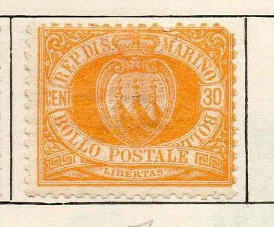 San Marino 1892 Early Issue Fine Mint Hinged 30c. 253956