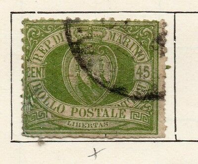 San Marino 1892 Early Issue Fine Used 45c. 253957