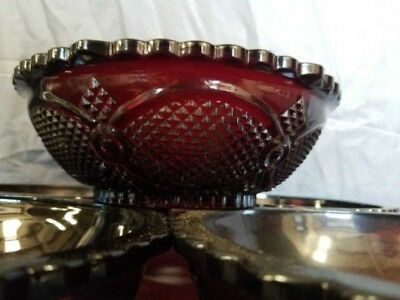 "Avon Cape Cod Ruby Red  8 3/4""  Large Serving Bowl FREE SHIPPING"