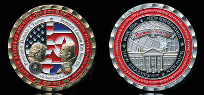 *PRESALE* Peace Summit Commemorative Coin Medal Donald Trump Kim Jong-Un NEW!!!