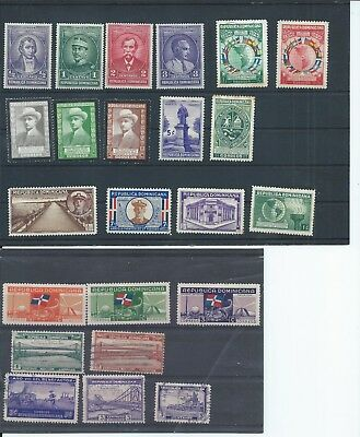 Dominican Republic stamps. Small mixed lot mainly 1935 to 1940 (C062)