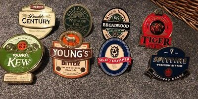 8 REAL ALE BEER PUMP CLIP SIGN Young's Ringwood Ballards Thwaites